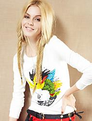 papagaio impresso frente básica t-shirt