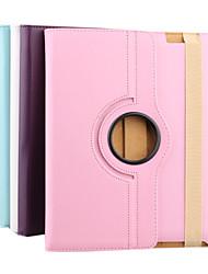 motif de litchi étui en cuir rotatif pour iPad2