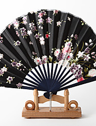 Black Shell Shaped Hand Fan (Set of 4)