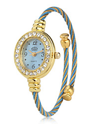 Women's Metal Analog Quartz Bracelet Watch (Blue)