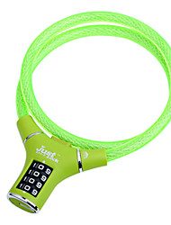 Combination Cable Bike Lock with color vinyl coating