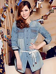 Nail Long Sleeve Jean Shirt