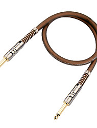 Soft, Flexible, Low attenuation, Micro-bubbles Guitar Cable in 6 meter