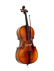 4/4-size Satin Solid Wood Cello with Stand (Italian Style)