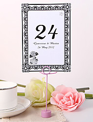 Personalized Table Number Card - Chrysanthemum