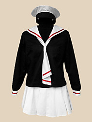 Inspired by Cardcaptor Sakura Tomoyo Daidouji Anime Cosplay Costumes Cosplay Suits / School Uniforms Patchwork Black Long SleeveT-shirt /