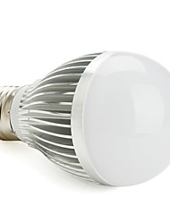 Dimmable E27 6W Natural/Warm White Light LED Ball Bulb (85-265V)