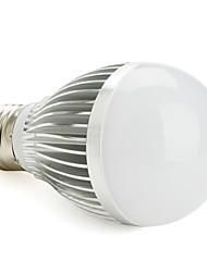 dimmable e27 6w naturelle / chaude ampoule blanche boule de lumière conduit (85-265v)