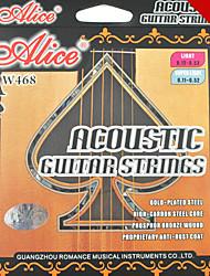 Alice - (aw468-sl) acústicos de aço cordas da guitarra (011-052)