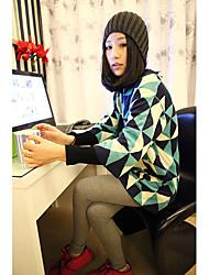 sueur impression géométrique à tricoter