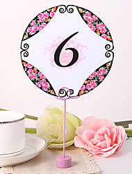 Round Table Number Card - Peony