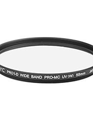 véritable JYC super mince haute performance à large bande filtre protecteur 55mm