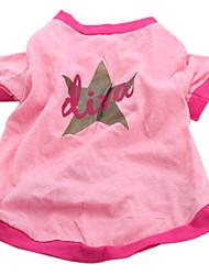 Perros Camiseta Rosado Ropa para Perro Verano Primavera/Otoño Estrellas Casual/Diario