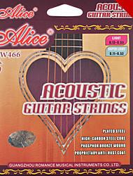 Alice - (aw466-sl) acústicos de aço cordas da guitarra (011-052)