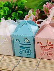 Baby Party Party Favors & Geschenke-12Stück / Set Geschenkboxen Kartonpapier Garten Thema kubisch Nicht-individualisiertRosa / Blau /
