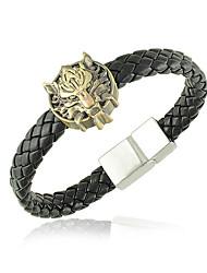 Roestvrij Staal/Leer Heren Cuff armband Armbanden