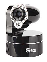 Coolcam - 3x zoom óptico de la cámara PTZ IP inalámbrica (audio de 2 vías, de corte IR), p2p