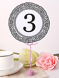 Place Cards and Holders Round Table Number Card - Portor Gold