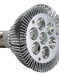 Focos LED PAR30 E26/E27 7W 7 LED de Alta Potencia 680 LM Blanco Cálido AC 100-240 V