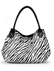 Zebra Stripe Floral Print Magnetic Closure Shoulder Bag(22cm*15cm*1cm)