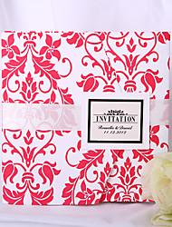 Personalized Fuchsia Decorative Design Wedding Invitation (Set of 50)