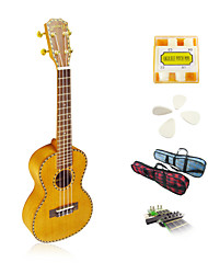 Yadars - Solid Mahogany Concert Ukulele with Gig Bag/Pitch Pipe/Picks/Capo