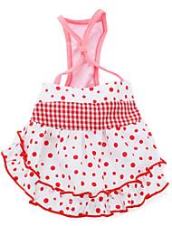 vestido de estilo de liga para los perros (XS-XXL, rosa)