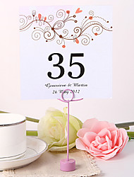 Place Cards and Holders Personalized Square Table Number Card - Branch (Set fo 10)