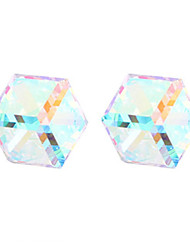 z&X® cristal delicado cúbico e platina banhado brincos de liga leve