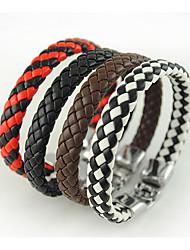 PU And Stainless Steel Faddish Bracelet