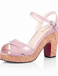PRIMULA - Sandali con tacco Quadrato Vernice