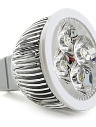 Focos LED GU5.3(MR16) 4W 4 LED de Alta Potencia 360 LM Blanco Natural DC 12 V
