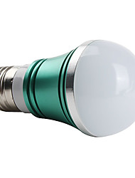 E26/E27 W 3 High Power LED 270 LM Green A Globe Bulbs AC 85-265 V