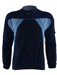 JAGGAD Cycling Tops / Jerseys Men's Bike Breathable / Quick Dry / Thermal / Warm Long Sleeve Polyester Gray / Dark BlueS / M / L / XL /