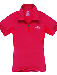 Outdoor Women's Polo Shirt Camping & Hiking / Climbing / Leisure Sports Moisture Permeability / Quick Dry Spring / Summer / AutumnRed /