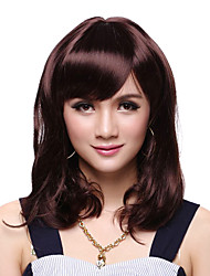 Capless Medium Length Top Grade Synthetic Curly Wig