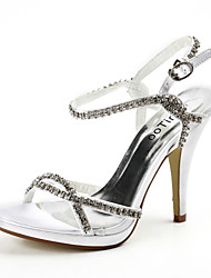 Sling back Stiletto Heel Satin Sandals with Rhinestone Wedding Women's Shoes(More Colors)