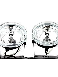 H3 55W Halogen Light Bulb 1000-LM 3000K Transparent Car Fog Lights (Transparent Lens, 1 Pair)
