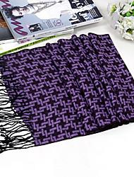 petite écharpe de laine motif carré