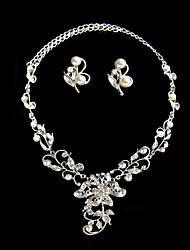 Conjunto de jóias Mulheres Aniversário / Casamento / Noivado / Presente / Festa / Diário Conjuntos de Joalharia LigaPérola / Strass /