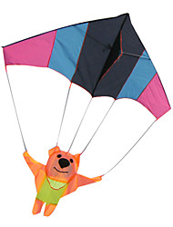 Nylon and Glass Rod Kites - Bear parachuting