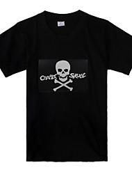 son crâne et le modèle de musique activé conduit t-shirt (3 piles AAA)