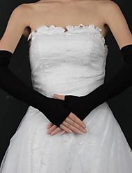 Opera Length Fingerless Glove Spandex Bridal Gloves