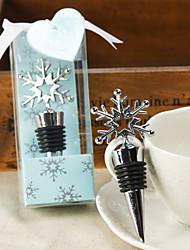 snowflake Flaschenverschluss in schimmernder Geschenkkarton