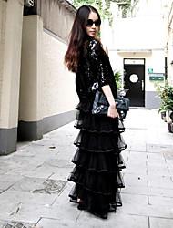 Fashion Layered Lace Yarn Skirt