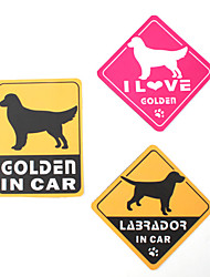 Yo amo a mi golden retriever pegatinas de coche del perro (paquete de 3)