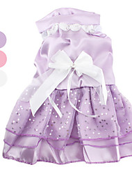 Dog Dress White / Pink / Purple Summer Solid Wedding