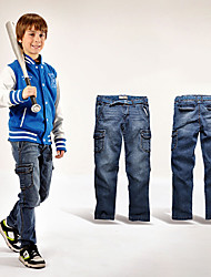 Boys Ramie Washed Jeans Trousers