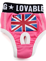 Dog Pants Pink Dog Clothes Spring/Fall National Flag / Britsh
