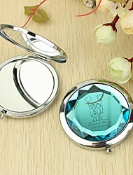 Personalized Make Up Compact - Lovers With Balloon (More Colors)